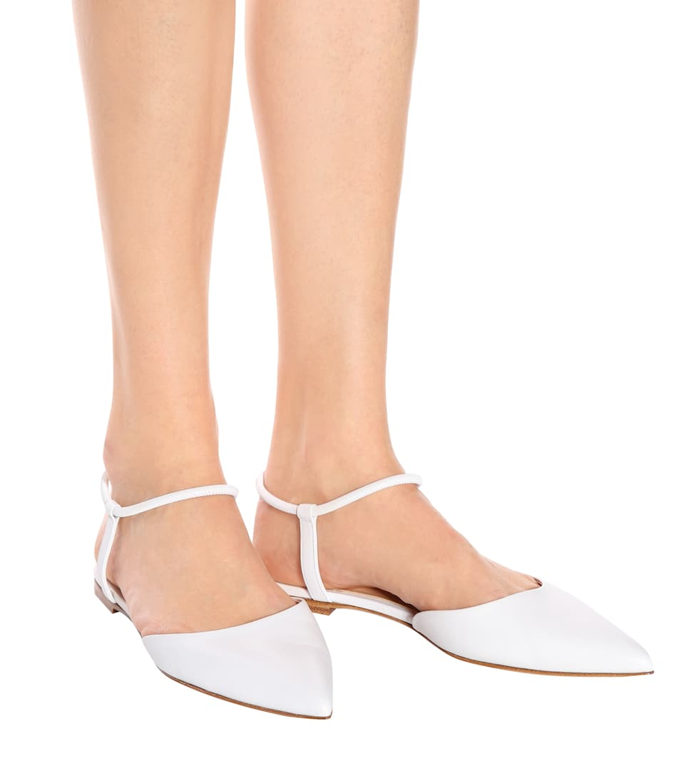 Gianvito Rossi Hedy leather ballerinas Buy Cheap 2018 Sale Wide Range Of Excellent Visa Payment Online Clearance Footlocker Finishline R10oia1qR