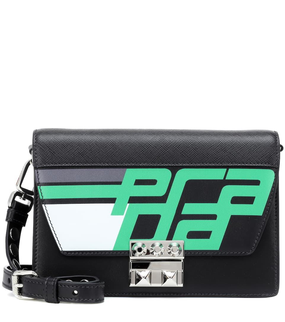 1ad880e24e14 Elektra Leather Shoulder Bag - Prada | mytheresa.com