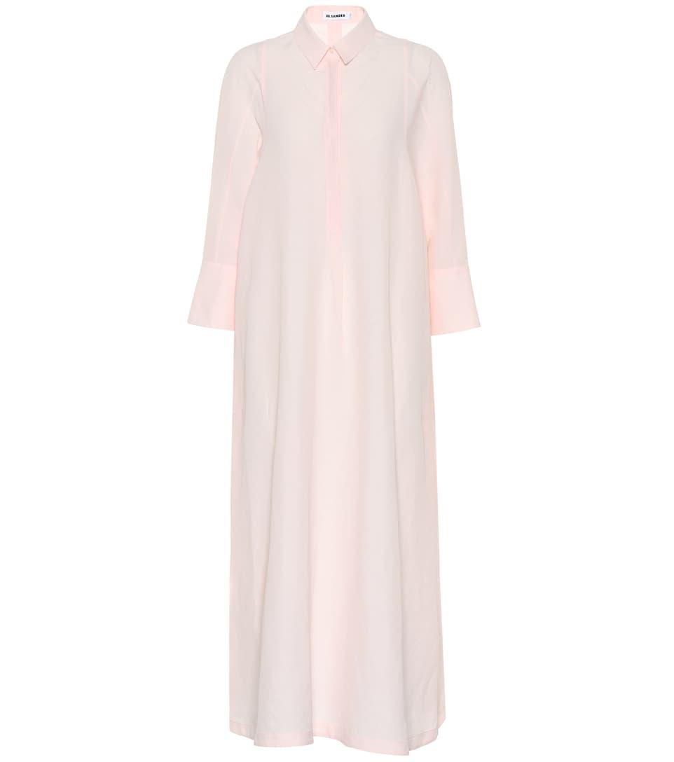 Blend Linen Maxi Dress Sander Jil aqqgxd
