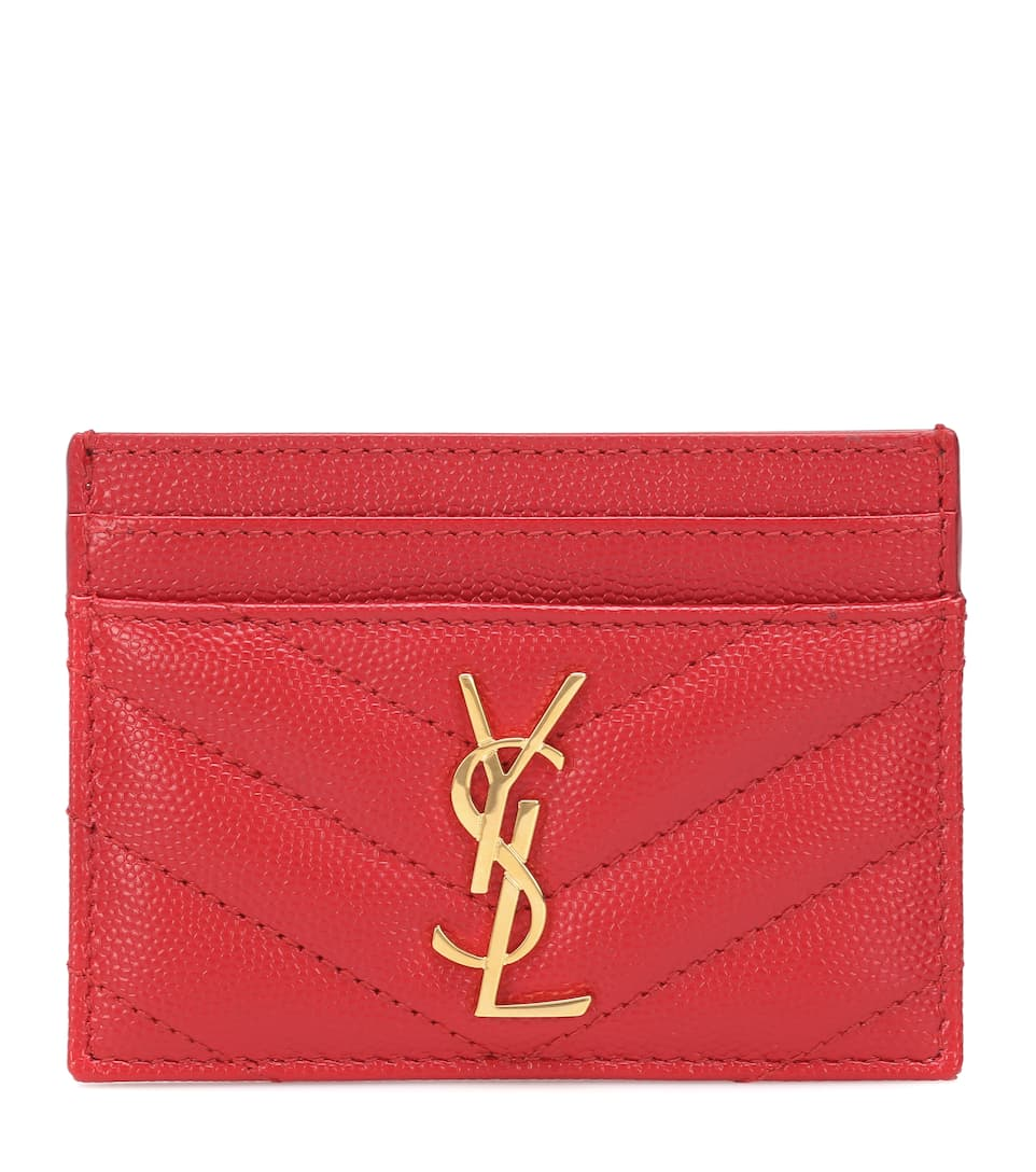 Quilted Leather Card Holder by Saint Laurent