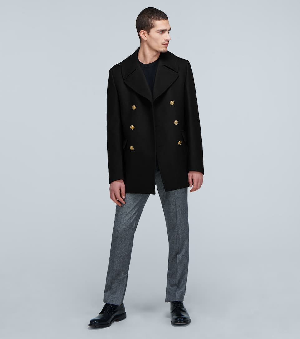 Contrast-Button Wool Peacoat - Givenchy | Mytheresa 6yEYduw4