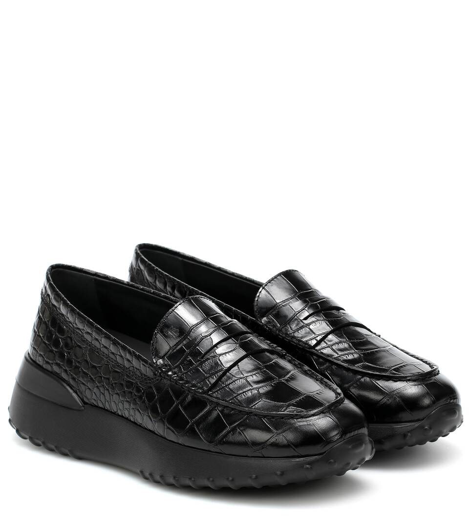Gommino Leather Platform Loafers - Tod