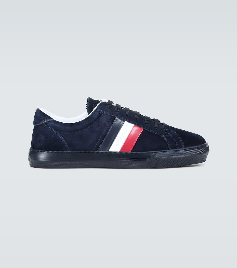 Moncler - New Monaco suede sneakers