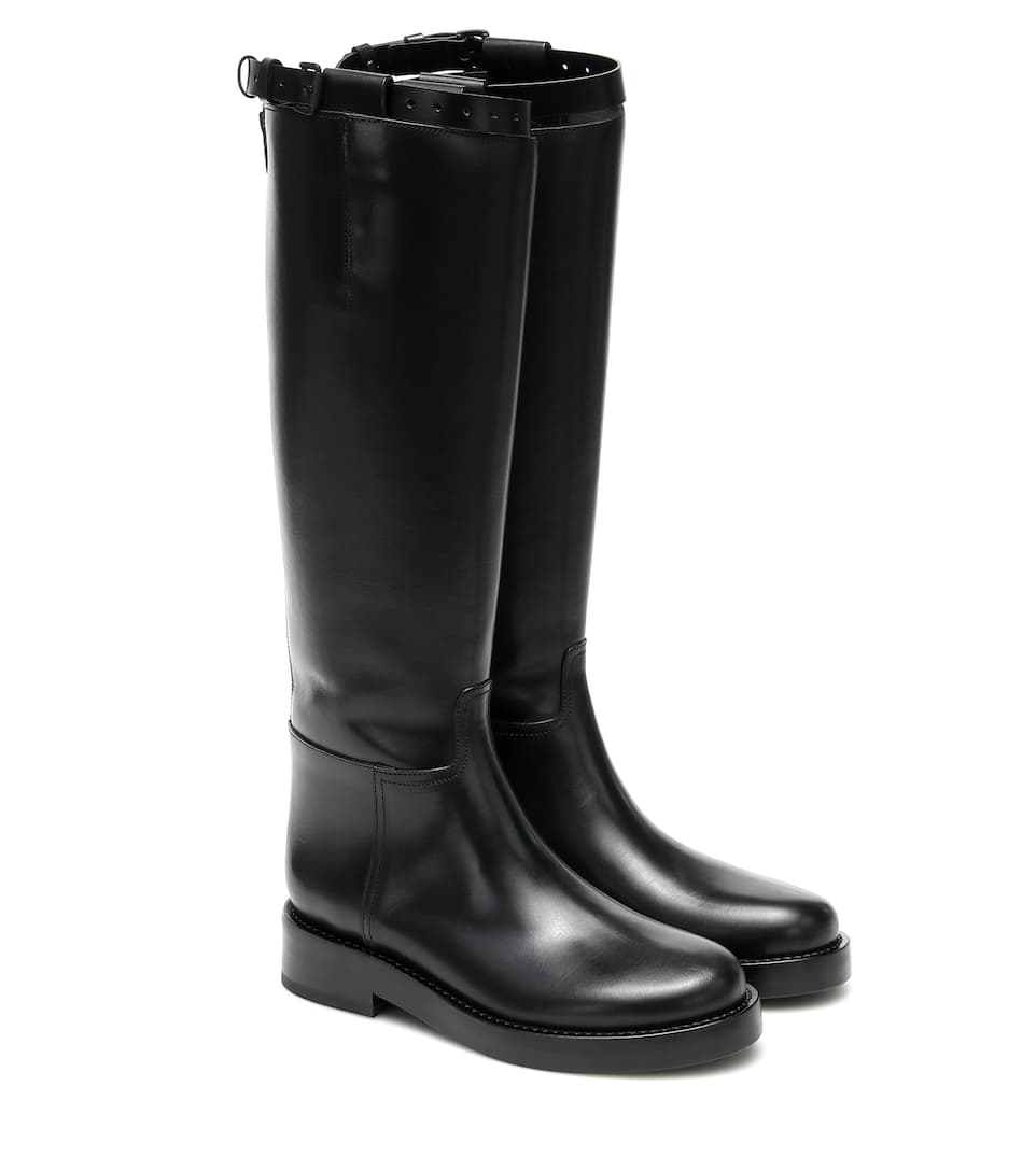 Leather Knee-High Boots - Ann