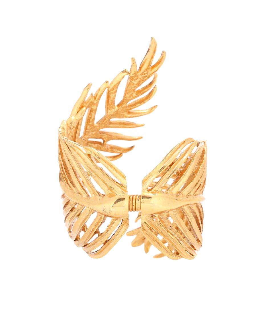 Manchette En Étain Palm Leaf - Oscar de la Renta Grande Vente hc5ea7ZPgl
