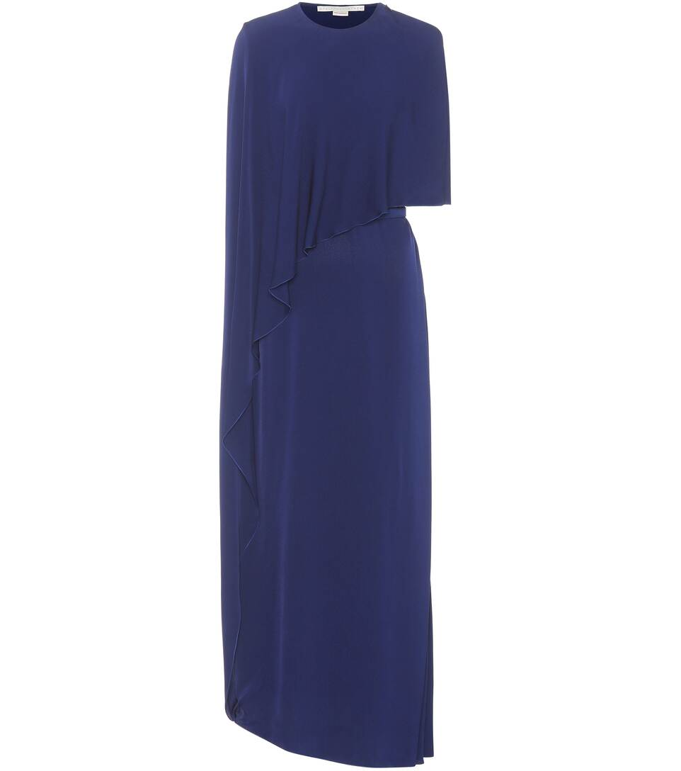 Stella McCartney Asymmetrische Robe mit Cape-Detail