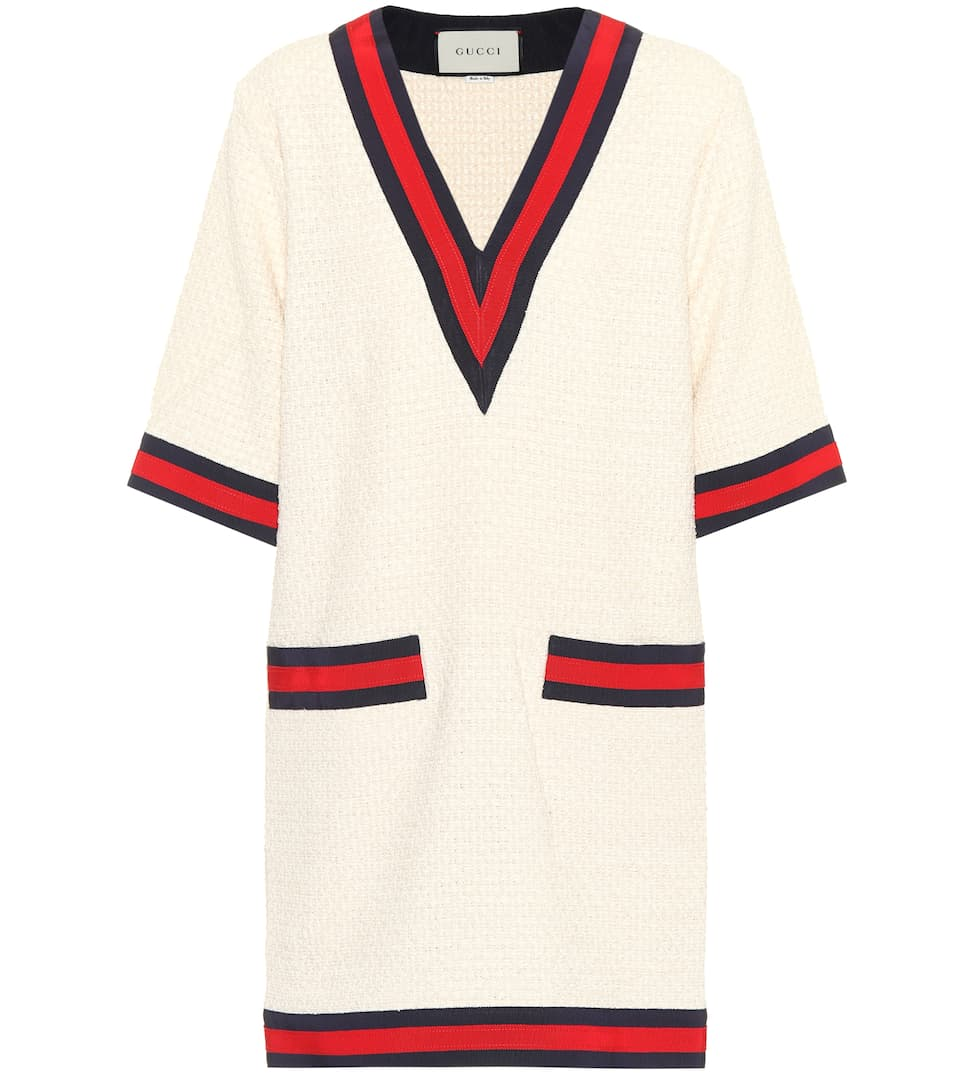 Cotton Blend Sweater Dress by Gucci