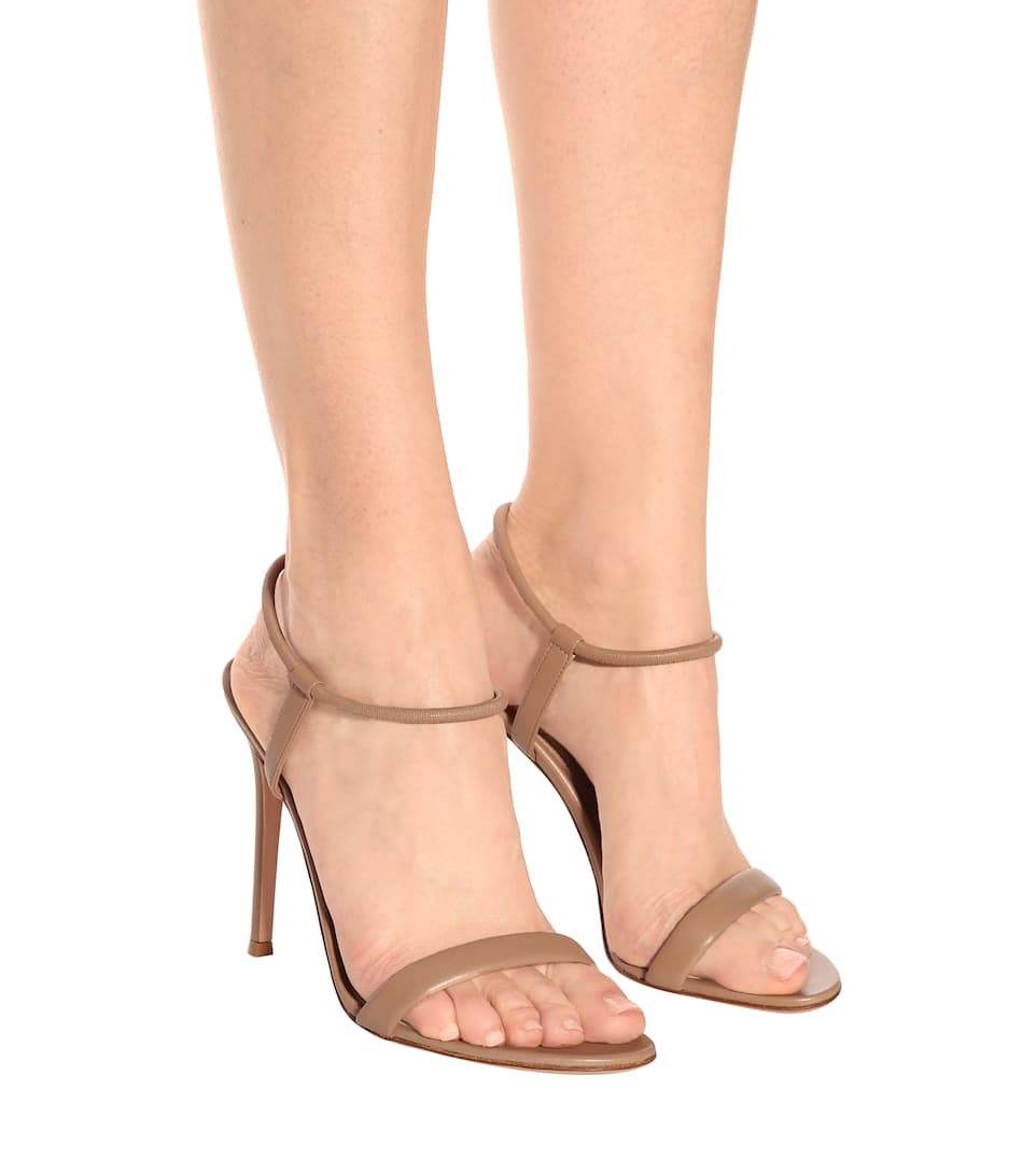 Gianvito Rossi Jamie leather sandals Grey Outlet Store Online Fashionable For Sale Collections Cheap Price Discount Visa Payment dvFtIs