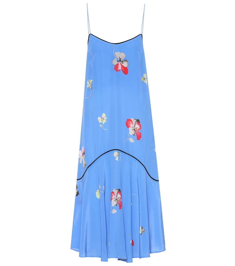 Ganni Bedrucktes Trägerkleid aus Seide