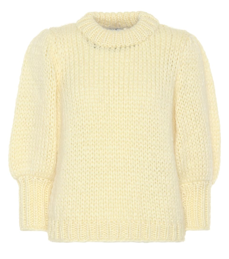 Sale Fast Delivery Ganni The Julliard mohair-blend sweater Anise Flower Low Cost Sale Online Clearance Clearance Store Good Selling Sale Online Cheap 2018 New 4GA3Brzwa