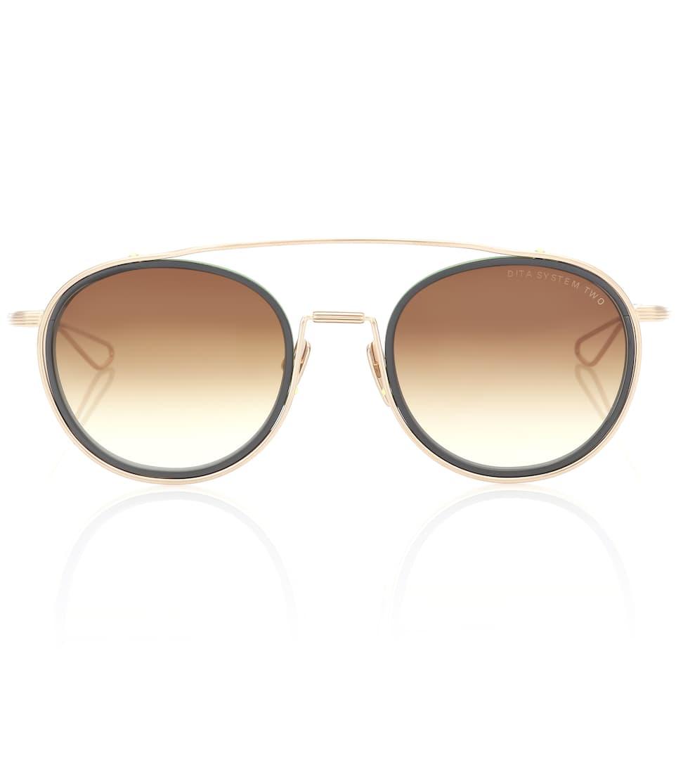 b45e72e7d01f Dita Eyewear System-Two Round Sunglasses In Brown. Mytheresa