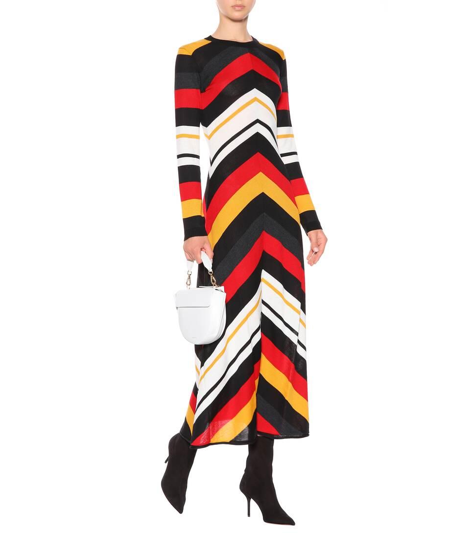 MSGM - Robe rayée en laine mélangée Vente Très Pas Cher Énorme Surprise À Vendre Acheter Votre Favori Best-seller De Sortie Véritable Ligne Pas Cher Z26sJK