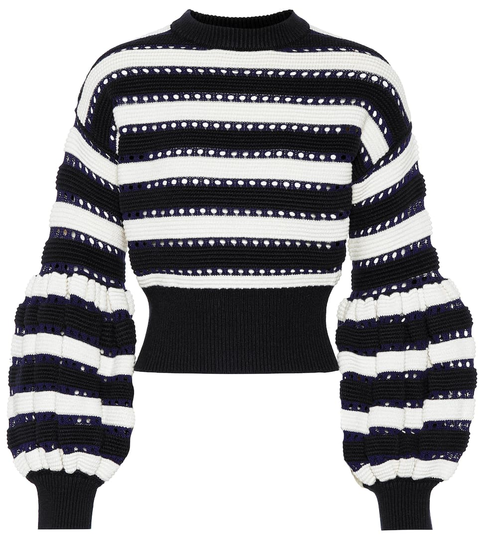 Cotton And Wool Blend Sweater by Self Portrait