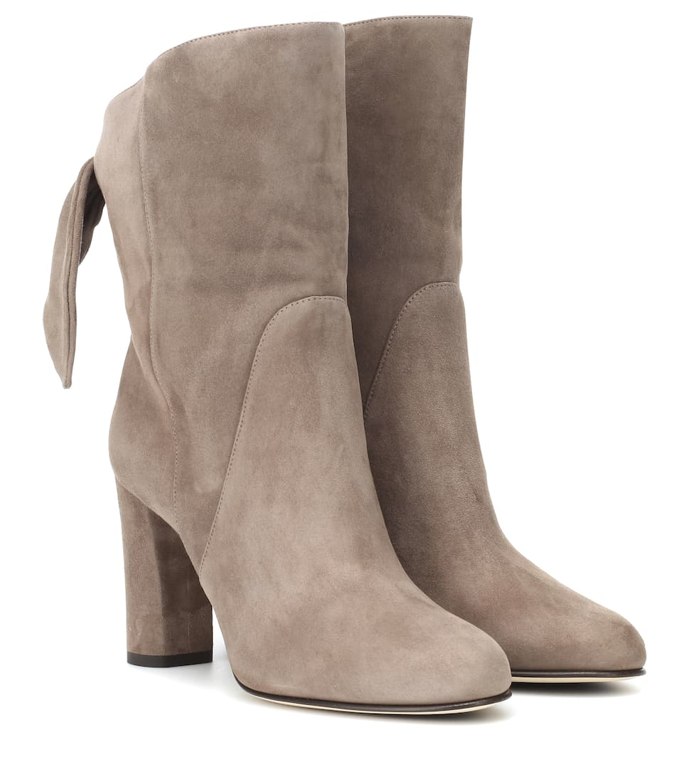 Malene 85 Suede Ankle Boots by Jimmy Choo