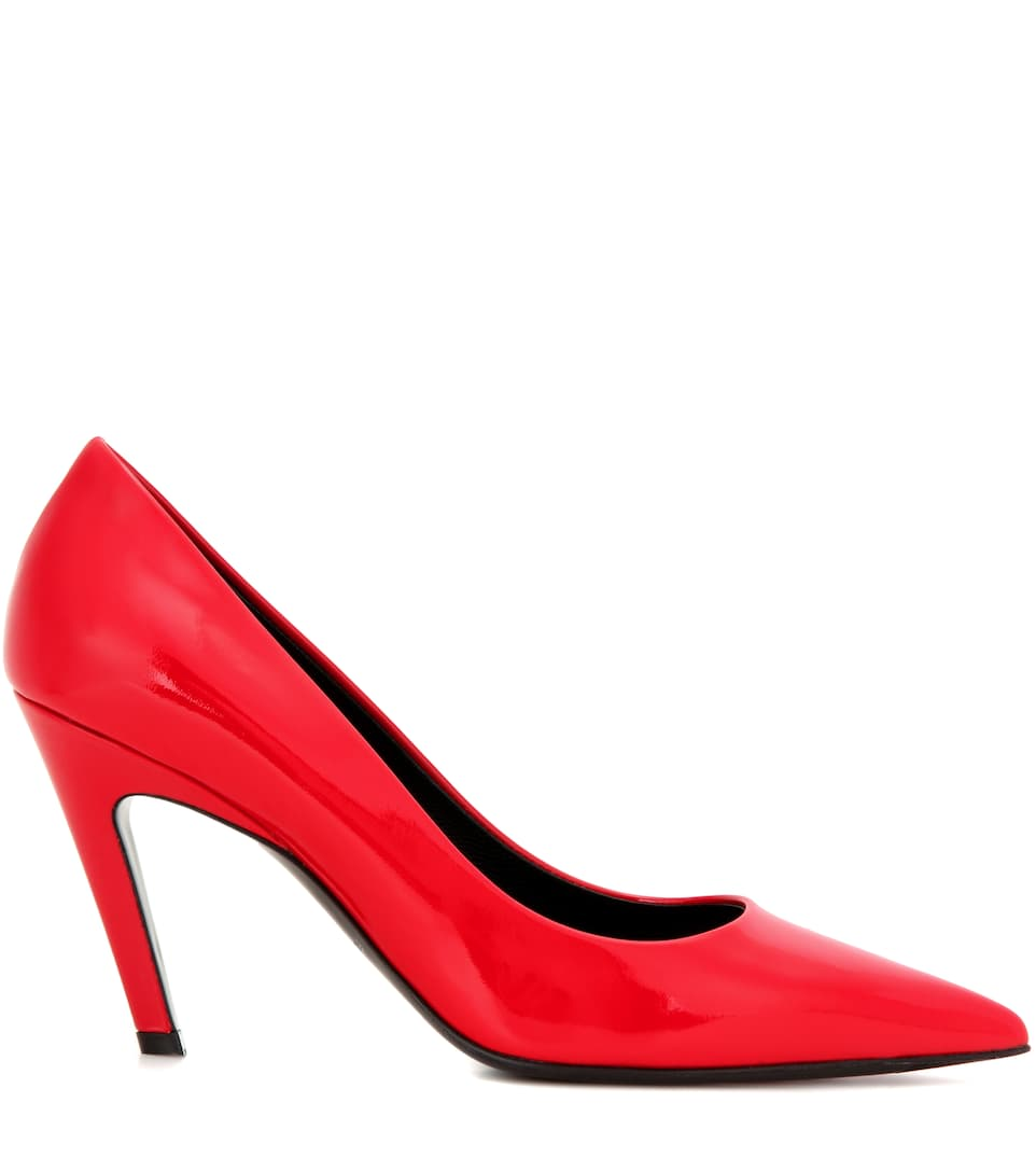 Balenciaga Quot Broken Heel Quot Patent Leather Pumps Rouge Rulis