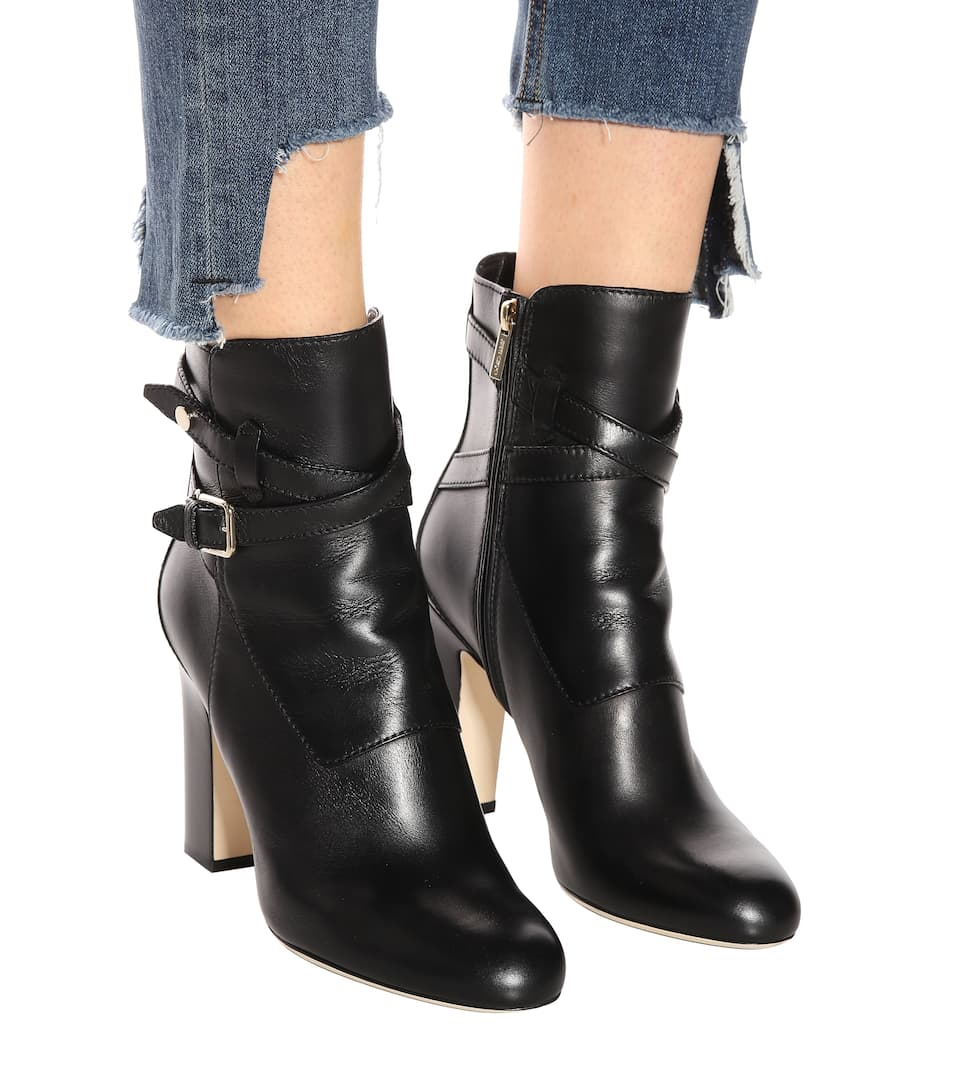 Mitchell 100 leather ankle boots. Jimmy Choo