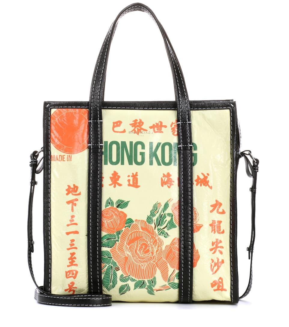 Balenciaga Shopper Bazar S Hong Kong aus Leder