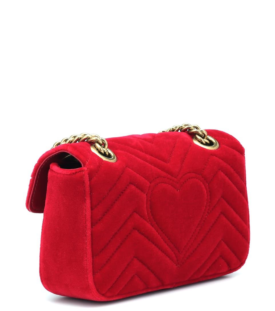 Gucci Schultertasche GG Marmont aus Samt Sammlungen Günstiger Preis Neue Stile Zu Verkaufen Kostengünstige Online-Verkauf 2IJqm