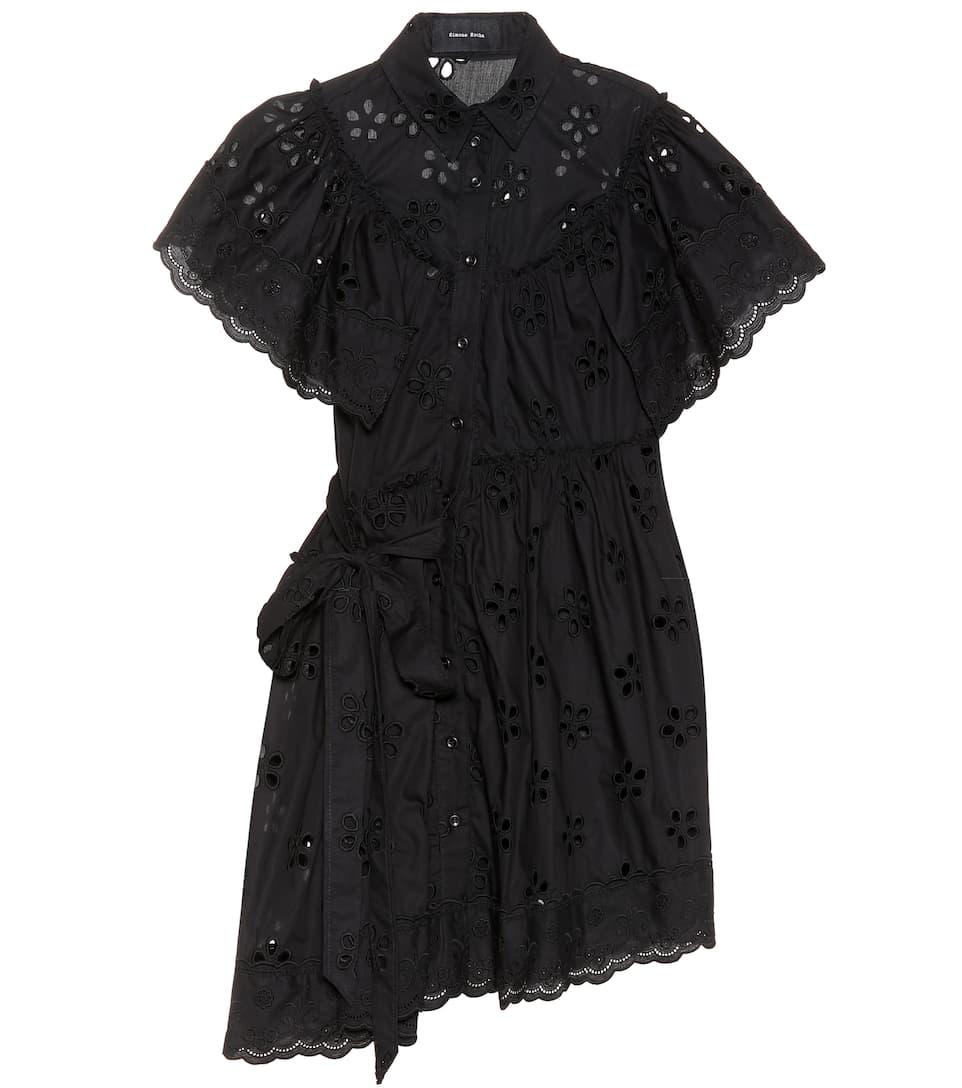 Simone Rocha - Mini-robe en broderie anglaise de coton