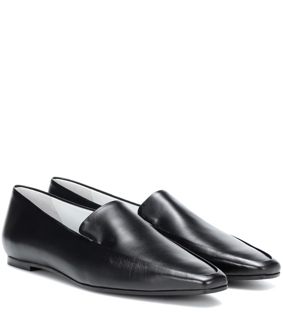 Minimal leather loafers The Row N7VOs