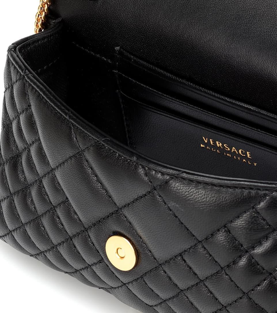 bc77d89003 Quilted Medusa Leather Shoulder Bag - Versace | Mytheresa