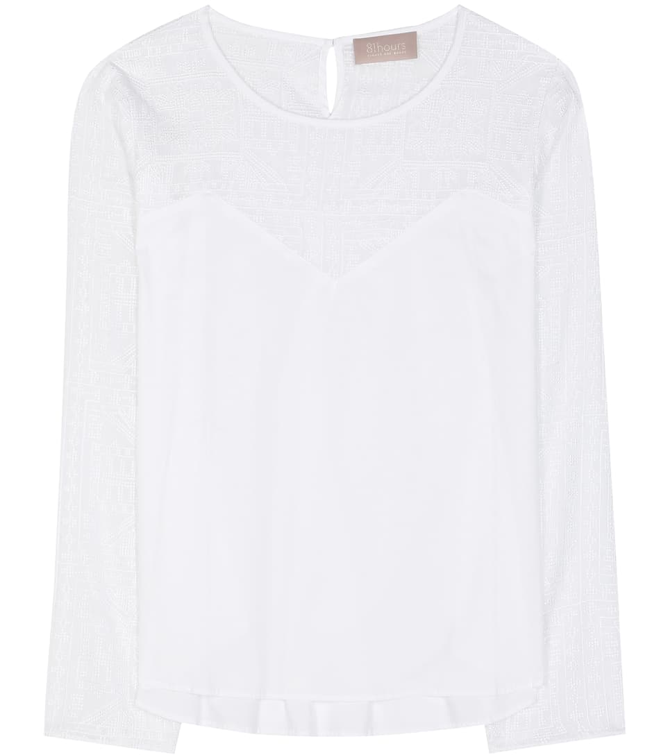 81hours Felice embroidered cotton blouse