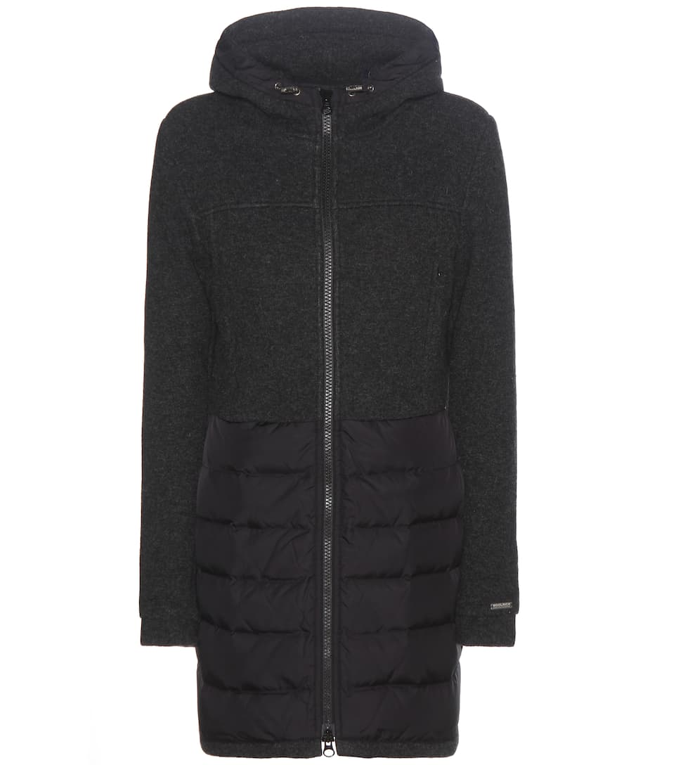 Woolrich Wool and cotton-blend coat