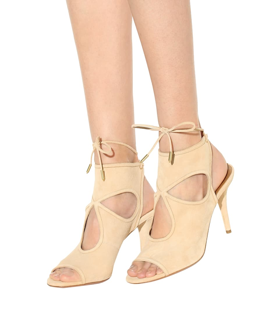 Aquazzura Sandalen Sexy Thing aus Veloursleder