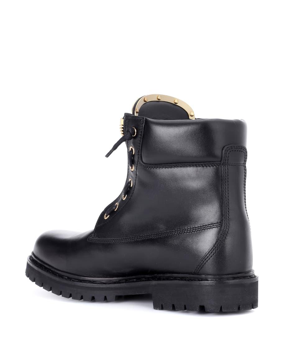 Balmain Ankle Boots Taiga aus Leder