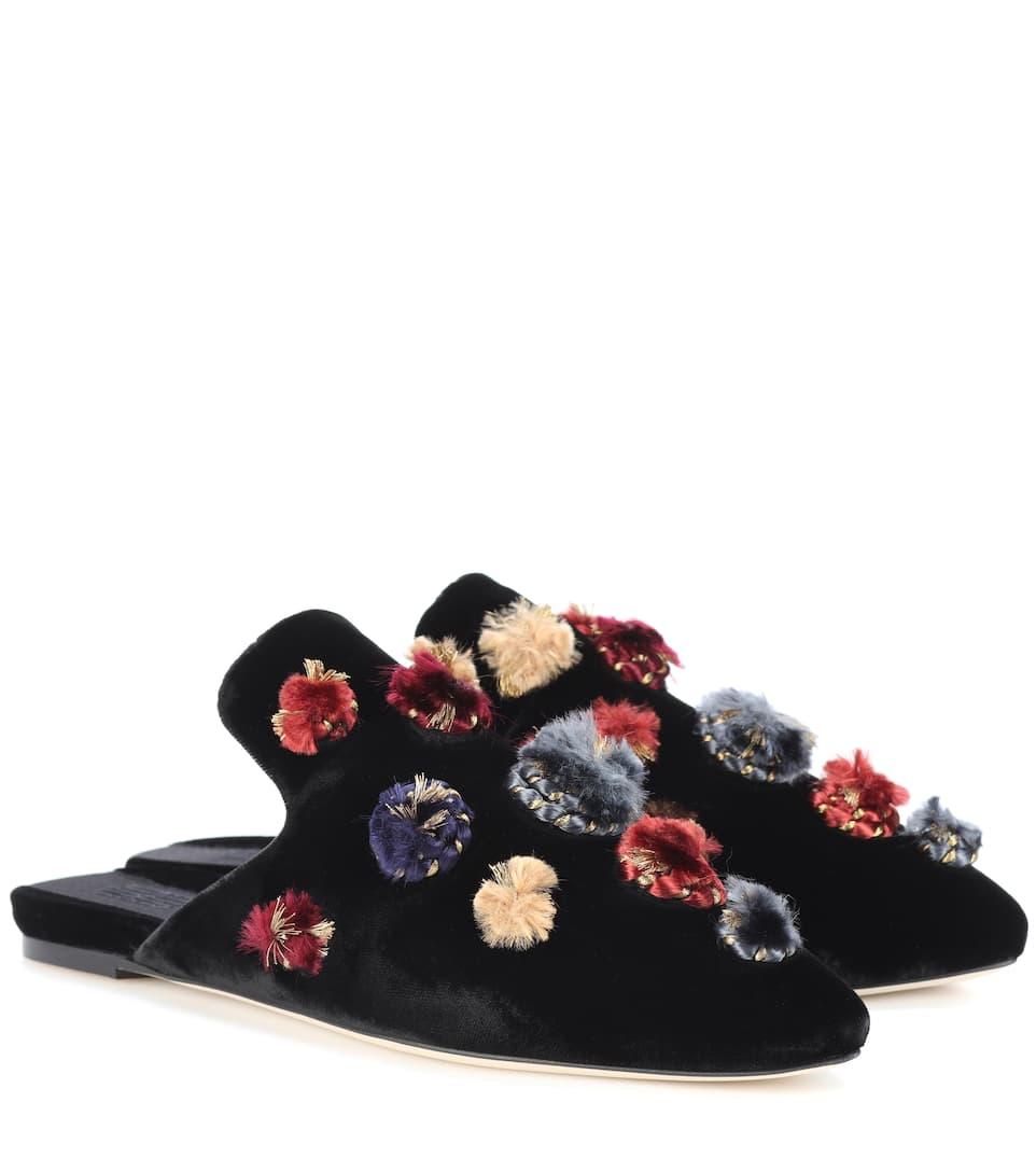 Crostata embellished velvet slippers Sanayi 313 vuMCpVDS