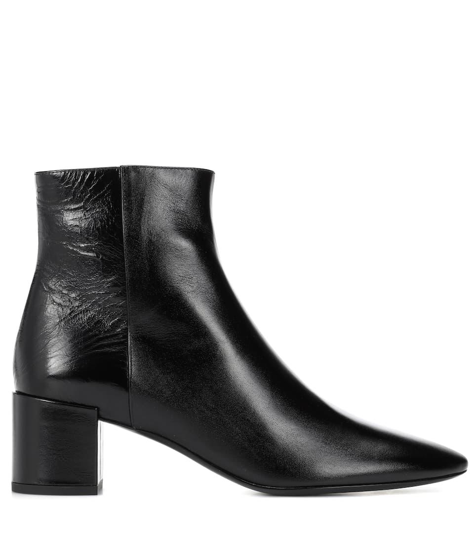 Saint Laurent Ankle Boots Loulou aus Leder