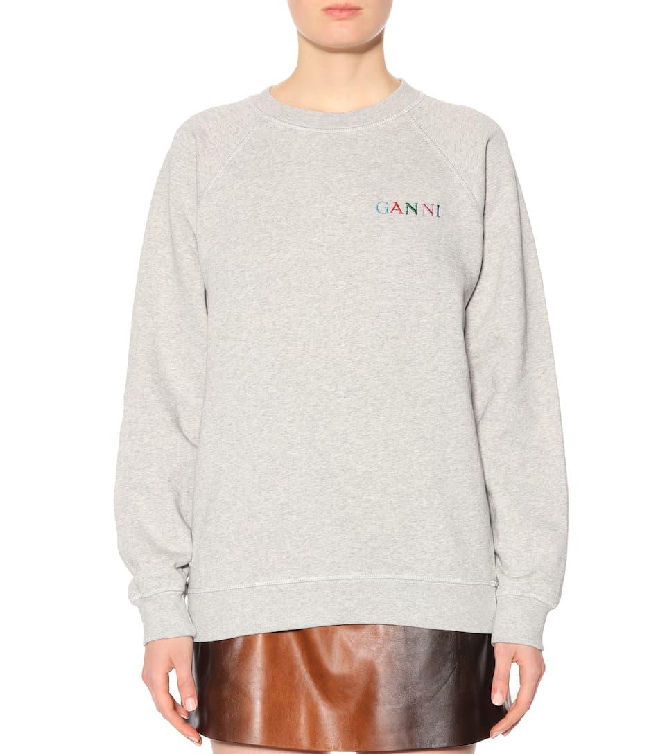 Ganni Sweatshirt Isoli Lott Of Cotton