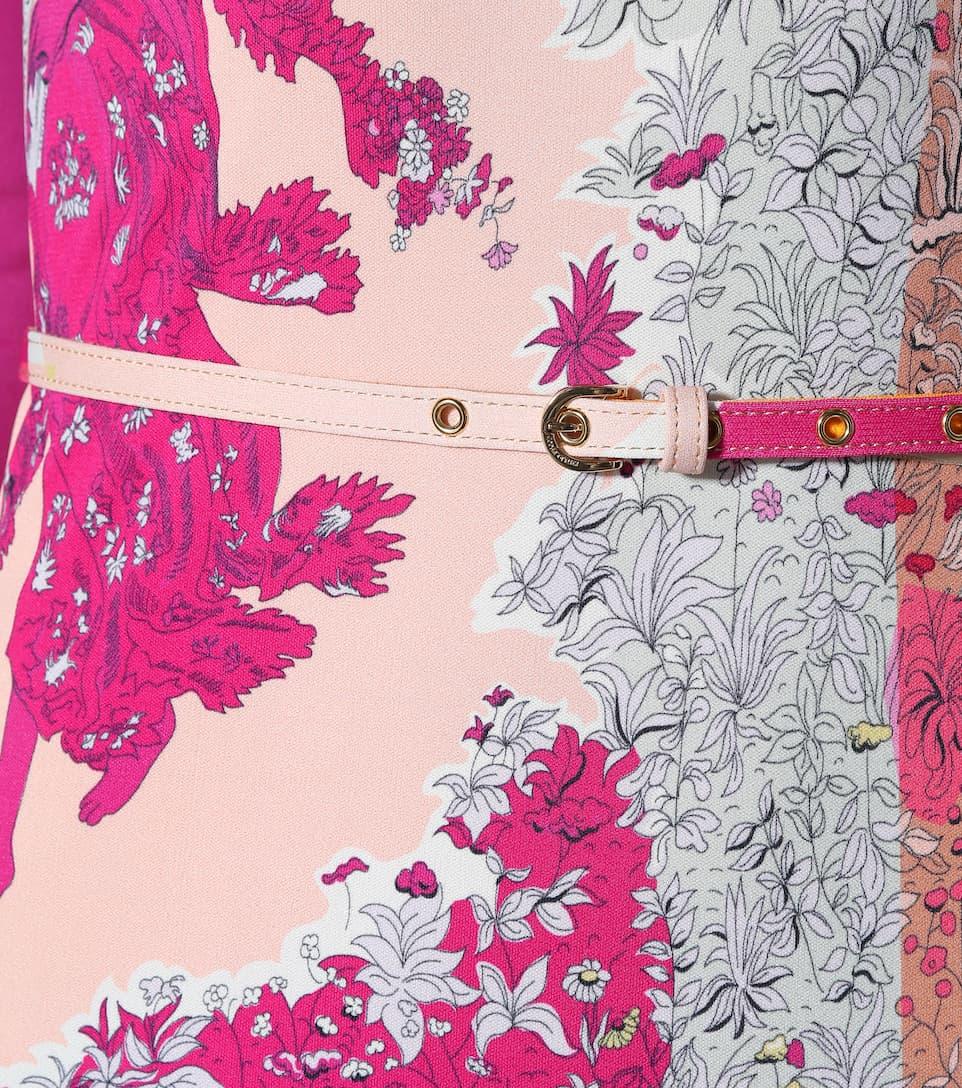 Emilio Pucci - Robe courte en soie mélangée imprimée Livraison Gratuite En Ligne SbQ5rl