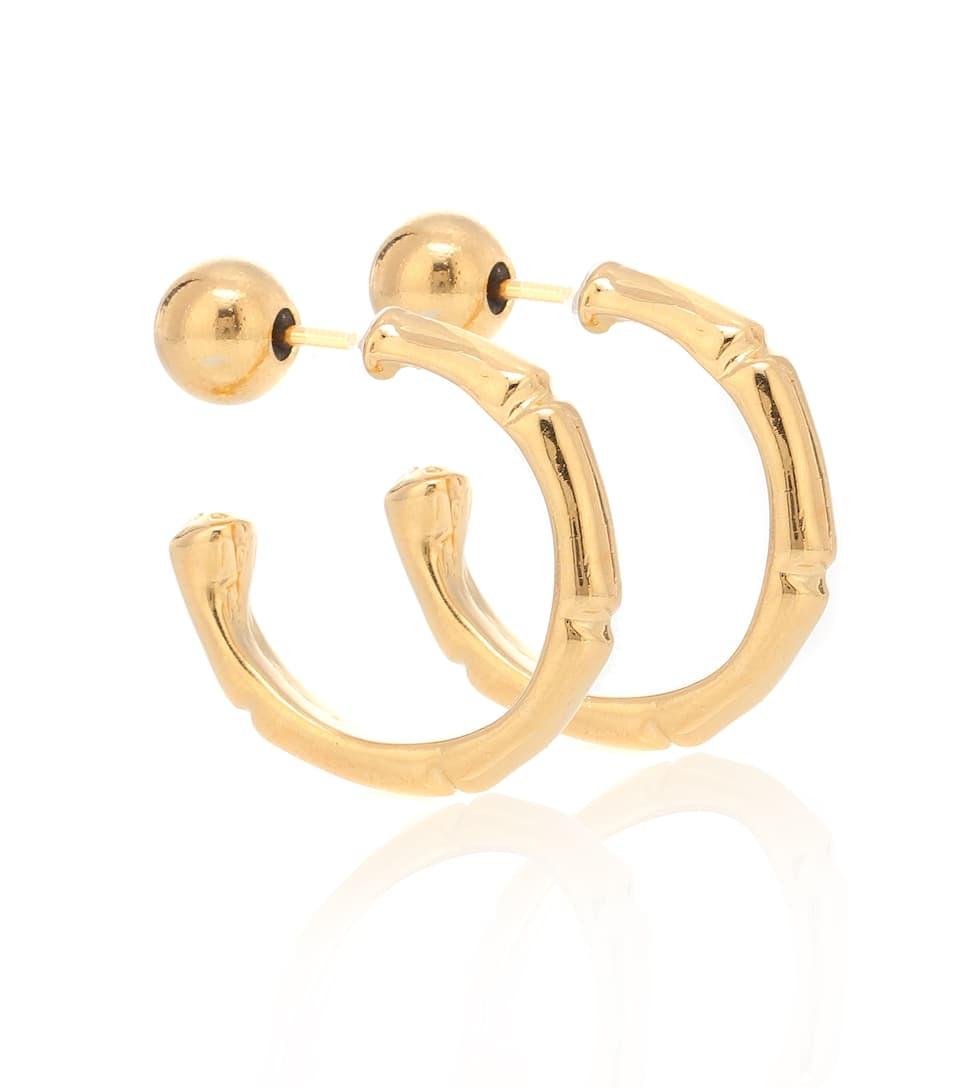 a2d4ec116 Thin Bamboo 18Kt Gold-Plated Hoop Earrings | Sophie Buhai - mytheresa.com