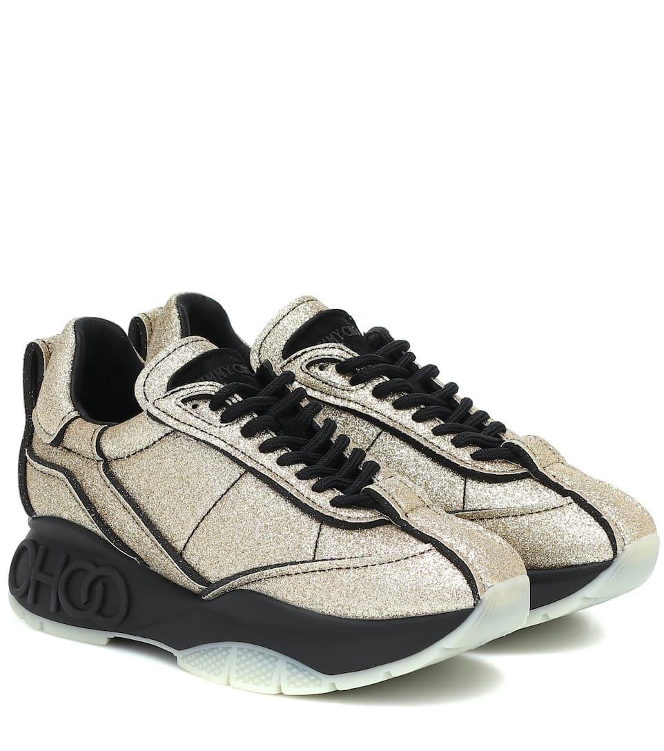 Raine Glitter Sneakers   Jimmy Choo
