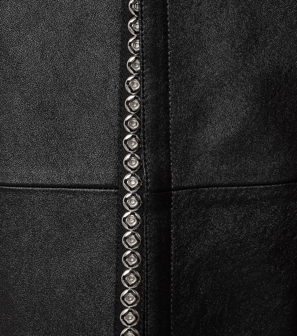 Saint Laurent - Leather maxi skirt