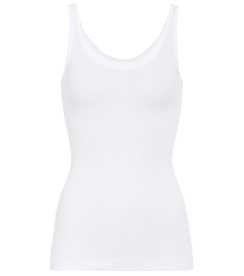 Vince Scoop Neck Pima Cotton Camisole In White