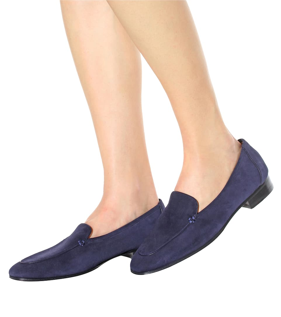 The Row Slippers Adam aus Veloursleder