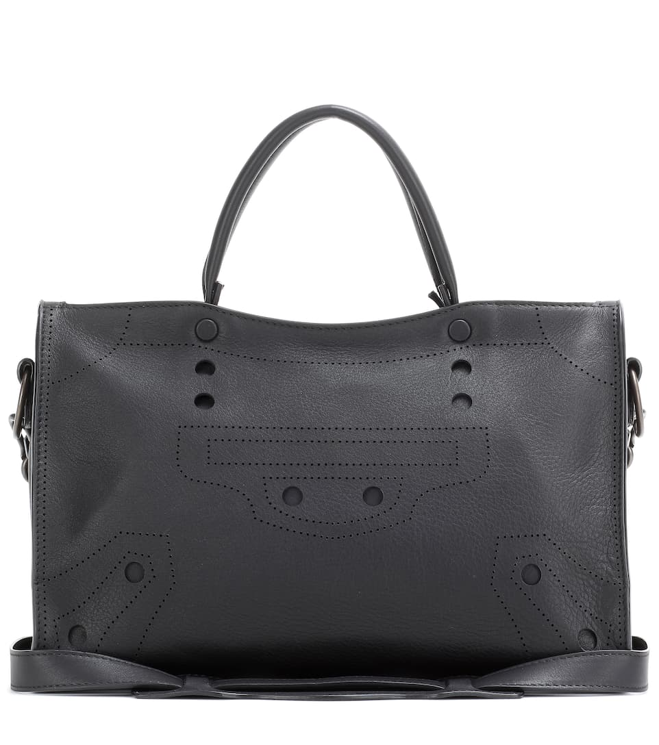 Blackout City Small Leather Tote - Balenciaga