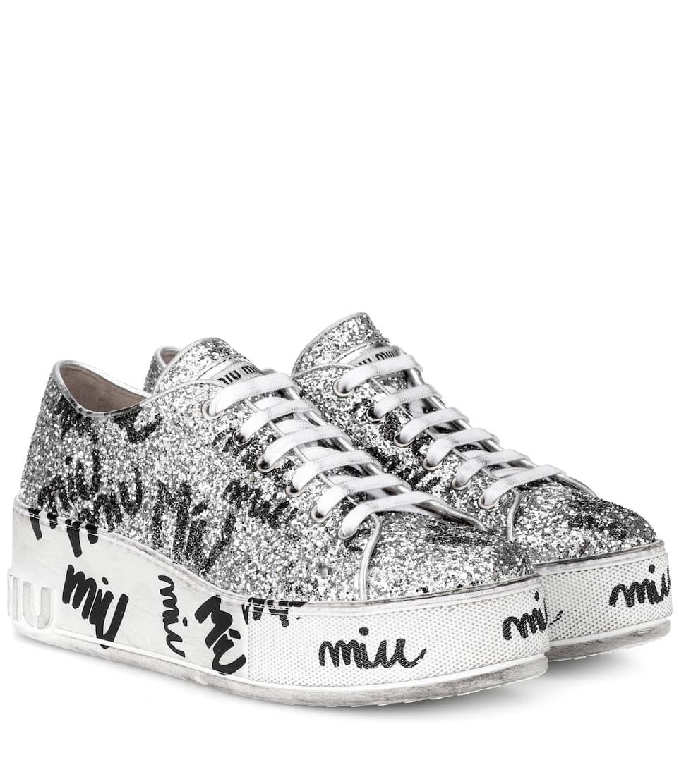 a37174b9cd Glitter Platform Sneakers