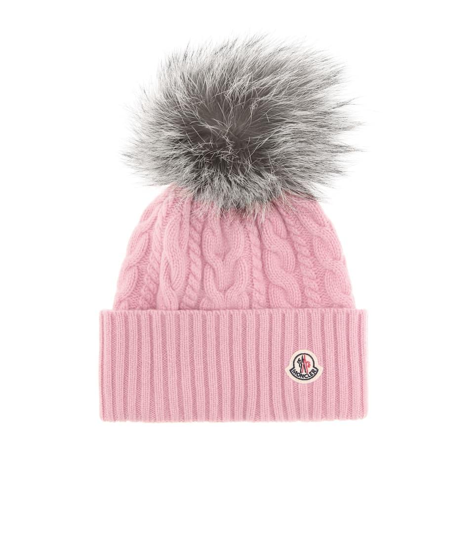 Fur-Trimmed Wool-Blend Beanie - Moncler  66f5c3223ec5
