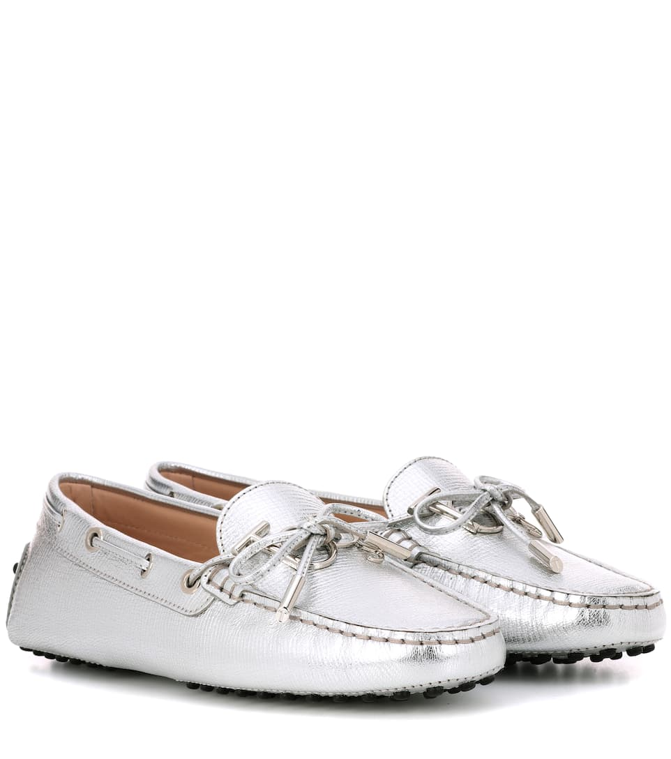 a228346ef44 Tod s - Gommino metallic leather loafers