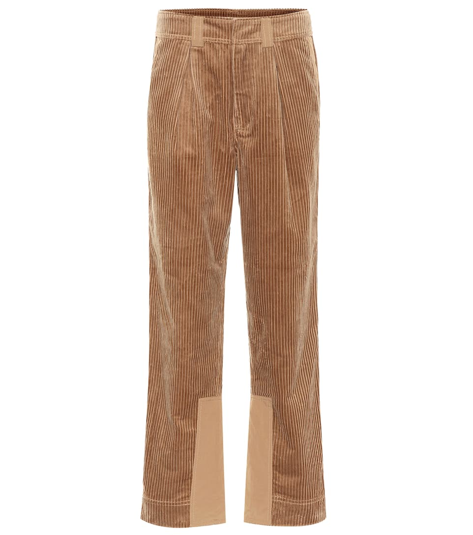 36 a 38 NUOVO C Zero Pantaloni Tessuto Pantaloni Marrone Tg