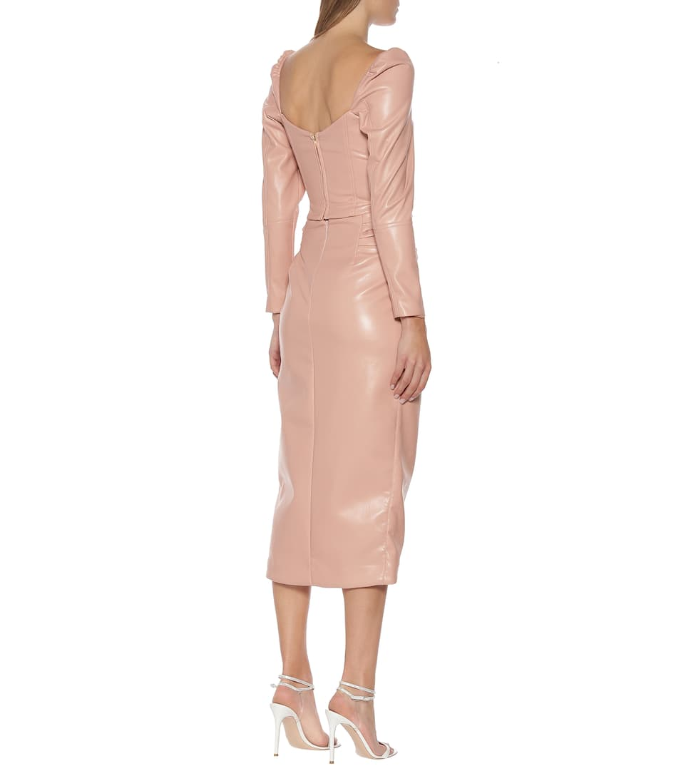 Jonathan Simkhai - Faux-leather midi skirt