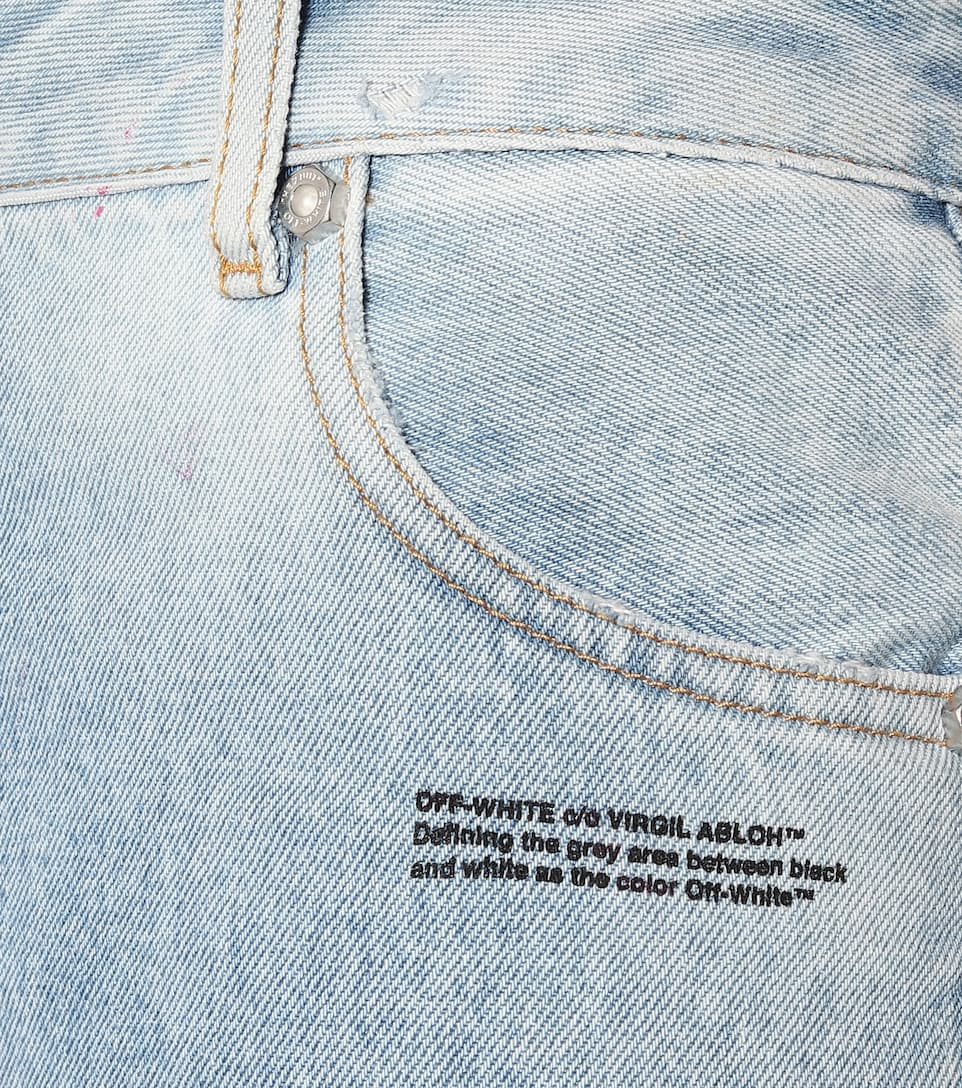 Off-White - Mid-rise straight ombré jeans