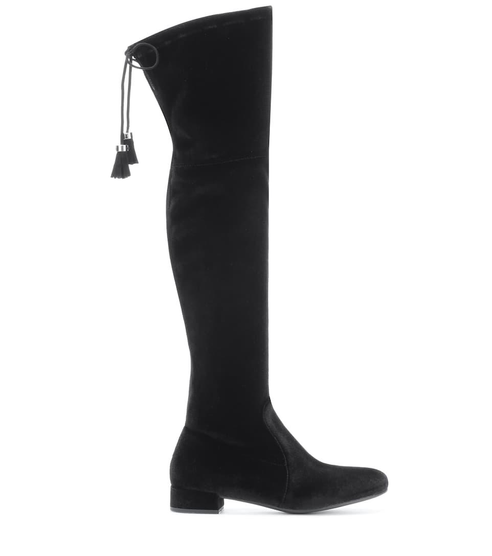 Prada Overknee-Stiefel aus Samt