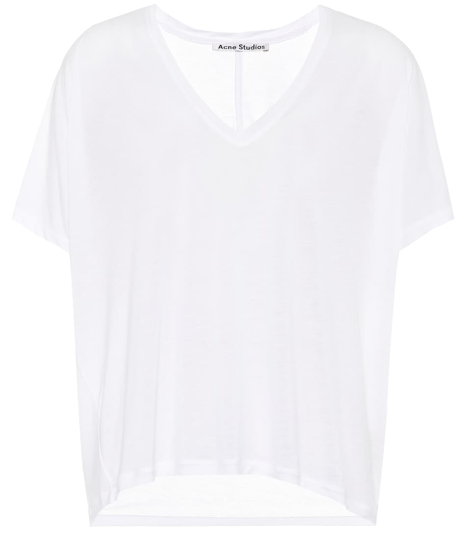 Acne Studios Kileo tencel V-neck T-shirt Optic White For Sale Hot Sale Cheap Online Cheap From UK JyU6JK