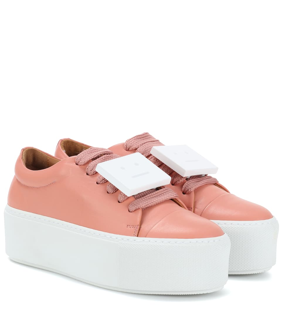 5143cb74e3 Exclusive To Mytheresa.com – Drihanna Nappa Leather Platform Sneakers | Acne  Studios - mytheresa