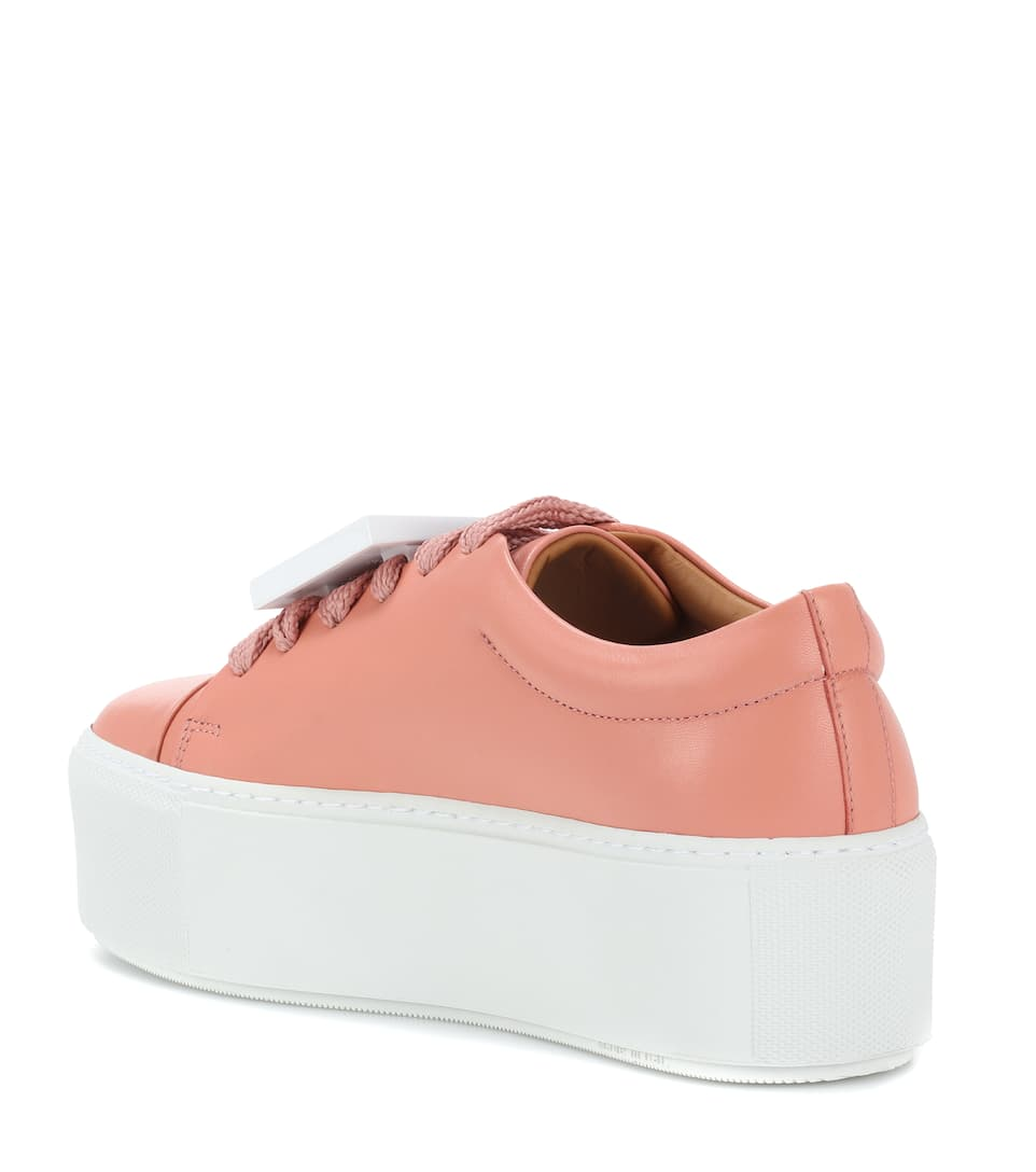 Exclusive to mytheresa.com - Drihanna nappa leather platform sneakers Acne Studios XCSu6I0U