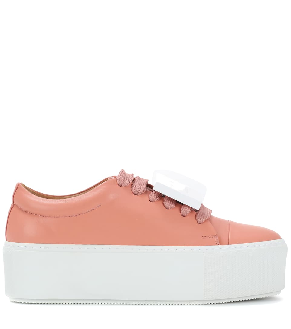 Exclusive to mytheresa.com - Drihanna nappa leather platform sneakers Acne Studios qRC4Pn